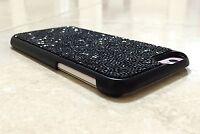 iPhone XR Case Made with Black Jet Swarovski Crystals Bling Diamonds Gem Luxury