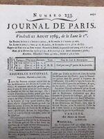 Déclaration des Droits de l'homme 1789 Mirabeau Naissance Assemblée Nationale