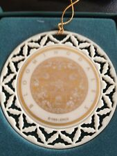 Lenox 1989 Pierced Porcelain Christmas Ornament Bloomingdale's New with Box