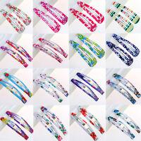 10PCS Wholesale Multicolour Hair Snap Clips Claws Women Girls Hair Accessories
