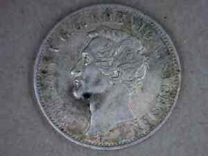 1855-F German States Saxony Thaler Coin KM # 1187, Visit to Mint by King Johann