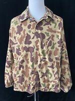Vintage Bob Allen Ducks Unlimited XL camo Hunting Jacket Made in USA board cut