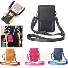 Girl's Universal Leather Handbag Card Pouch Wallet Shoulder Bag Phone Case Cover