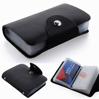 12/24 Slots Faux Leather Credit Card Case Purse Soft Pocket ID Holder Sell