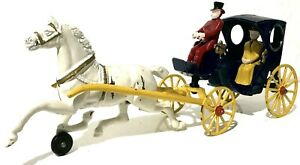 Original Kenton Cast Iron Surrey Horse Drawn LADY&MAN DRIVER PASSENGER 16""