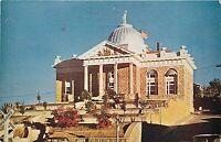 Old Chrome Postcard AZ H023 Nogales Court House Railroad Crossing Street View