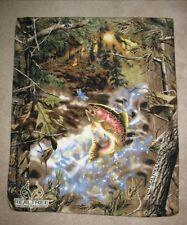 Trout Panel Fleece Throw Blanket