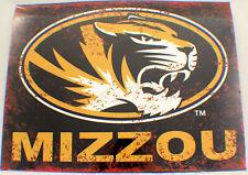 Missouri State Mizzou Mu Distressed Metal Sign Wall Plaque New #82192
