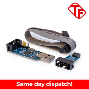 USBASP USB ISP Programmer for AVR ATMEL Arduino ATMega Includes IDC Cable