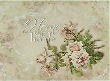 Rice Paper for Decoupage, Scrapbooking Sheet Home Sweet Home Rose Big