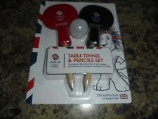 OLYMPIC TEAM GB TABLE TENNIS BATS PENCIL TOPPER SET WITH BALL OFFICIAL