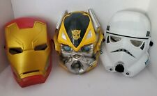 Marvel Iron Man Mask Bumblebee Star Wars Stormtrooper kid masks play toy heroes