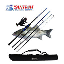 "SANTIAM FISHING RODS 4 PC 10'0"" 12-25LB TRAVEL SURF ROD AND REEL COMBO"