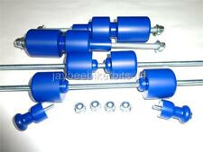 APRILIA RSV R 1998 2003 CRASH MUSHROOMS  SET OF 8 BLUE SLIDERS BOBBINS BUNGS S9W