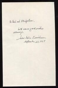 Julie Nixon Eisenhower Signed Book Page Cut Autographed Signature
