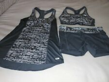 Exercise Outfit by Champion Duo Dry Size M/M Shorts - Bra - Cover-up Gray