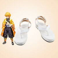 Anime Demon Slayer: Kimetsu no Yaiba Agatsuma Zenitsu Shoes Sandal Cosplay Props