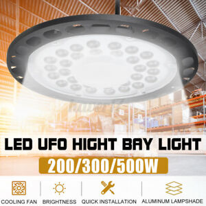 LED High Bay Light 500W 300W 200W Watt Warehouse Led Shop Light Fixture UFO Q