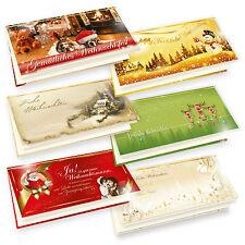 Weihnachtskarten Sammlung 6 X 5 Karten