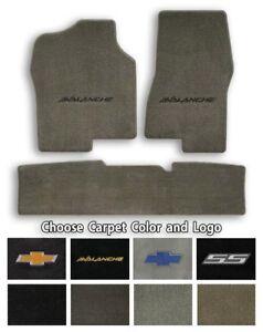 Chevy Avalanche 3pc Classic Loop Carpet Floor Mats-Choice of Carpet Color & Logo