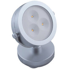 LED Battery Operated Adjustable Spot Light with Hi/Lo/Off Push Button (Silver)