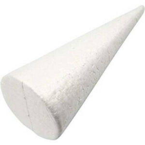 Polystyrene Solid Cone Shape Christmas Tree Styrofoam Forms Molds For Decal