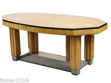 Grande Table De Salle A Manger Art-deco, Decor De Marqueterie