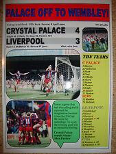 Crystal Palace 4 Liverpool 3 - 1990 FA Cup semi-final - souvenir print