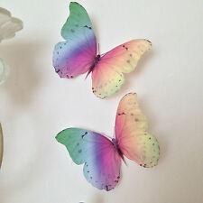 4 Vivida RAINBOW 3D Farfalle SPECCHIO Casa Muro Camera Da Letto Vivaio ACCESSORI