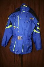 Vintage Spyder Entrant Coat Belt Thinsulate Blue Heavy Skiing Snowboarding Large