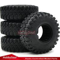4Stk RC 1.9 Crawler Reifen Tires 110mm für RC 4WD Axial 1.9 Crawler Felgen Wheel