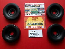 "332   4 NEW LOCKHEED WHEEL CYLINDER BOOTS. ( CYLINDER 1.1/2"" BORE )"