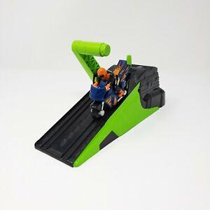 Hot Wheels Hyper Wheels Motorized Orange Motorcycle Racer Launcher Green Mattel