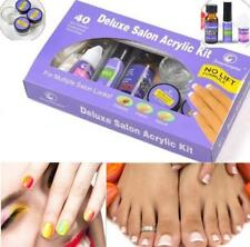 DELUXE PROFESSIONAL SALON NAIL ACRYLIC KIT ACRYLIC LIQUID & POWDER NAIL TIP GEL