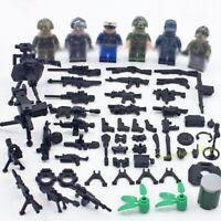 6pcs/set Militär Soldaten mit Waffen Bausteine WW2 Armee Figuren Spielzeug