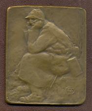 WWI - Albert Pommier - Le Poilu - TRES RARE fonte originale