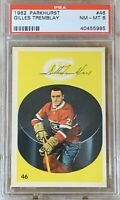 1962 1963 PARKHURST Gillies Tremblay PSA 8 RC ROOKIE Montreal Canadians #46 #2