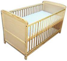 Babybett Kinderbett Juniorbett 2 in1 Umbaubar 120x60 Natur mit Matratze Neu