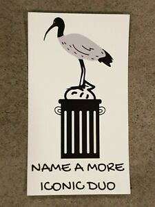 Bin Chicken Fridge Magnet, Name A More Iconic Duo, Ibis Bird