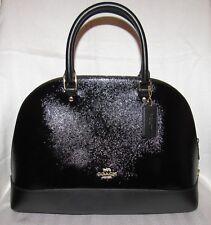 Coach Patent Leather Large Sierra Dome Satchel Bag Purse BLACK NWT $425 31352