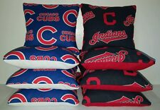 Set Of 8 Cleveland Indians/Chicago Cubs Cornhole Bean Bag *Free Shipping*