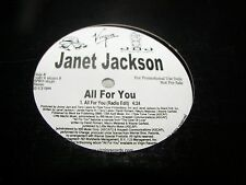 """JANET JACKSON ALL FOR YOU 12"""" Single NM Virgin SPRO-16130 2001 PROMO"""