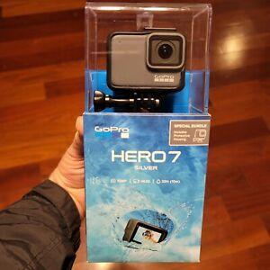GoPro Hero 7 Silver Edition- Model SPTM1  - NEW & SEALED 2020 Model w/ Housing!