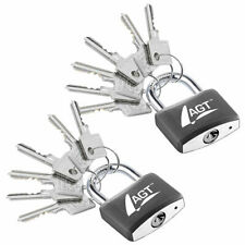 AGT 2 Vorhängeschlösser aus Aluminium, Messing & Stahl, 43mm, 12 Schlüssel