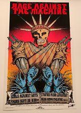 Signed Emek Rage Against the Machine Original Rock Concert Poster