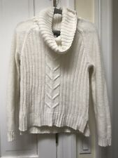 Ana White Sparkles Knit Cowl Neck Sweater Size Small
