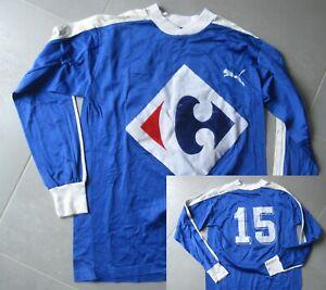 Maillot Lyon Bleu Olympique lyonnais carrefour Porté 15 Puma Vintage taille L
