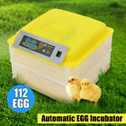 112 Egg Incubator Fully Automatic Digital LED Turning Chicken Duck Eggs Poultry