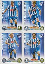 Match Attax 2008/09 08/09 Hertha BSC Berlin 4 Spielerkarten -Lukasz Piszczek u.a