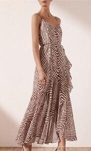 Shona Joy Sz 8 Benita Cocktail Wrap Dress